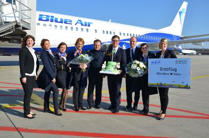 Erstflug Blue Air Sibiu